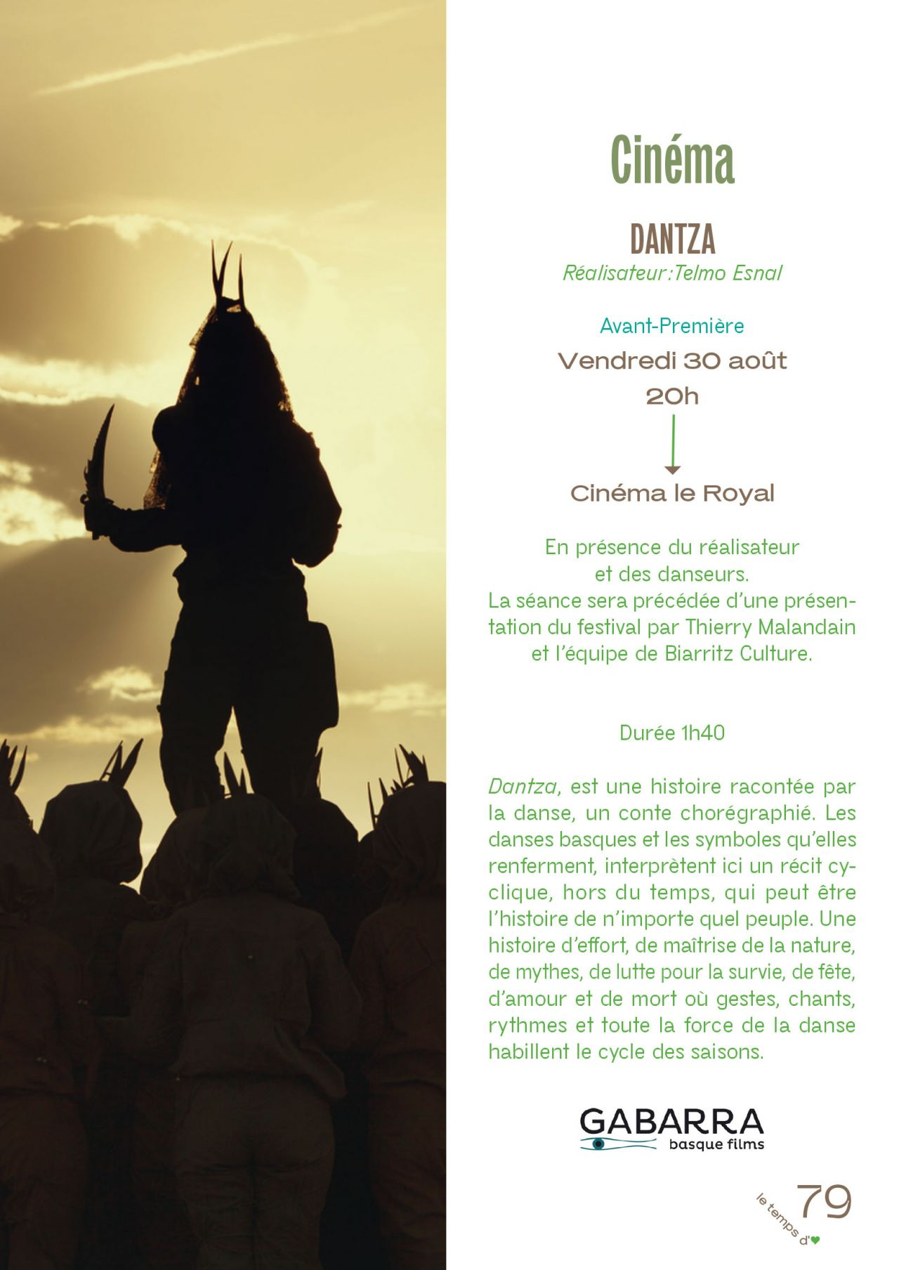 Le Temps d'aimer la danse, Biarritz-festival